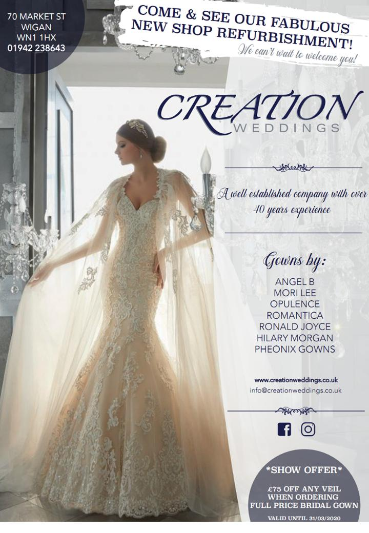 creation weddings wigan