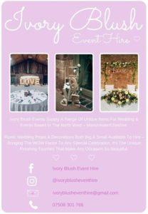 ivory blush event hire