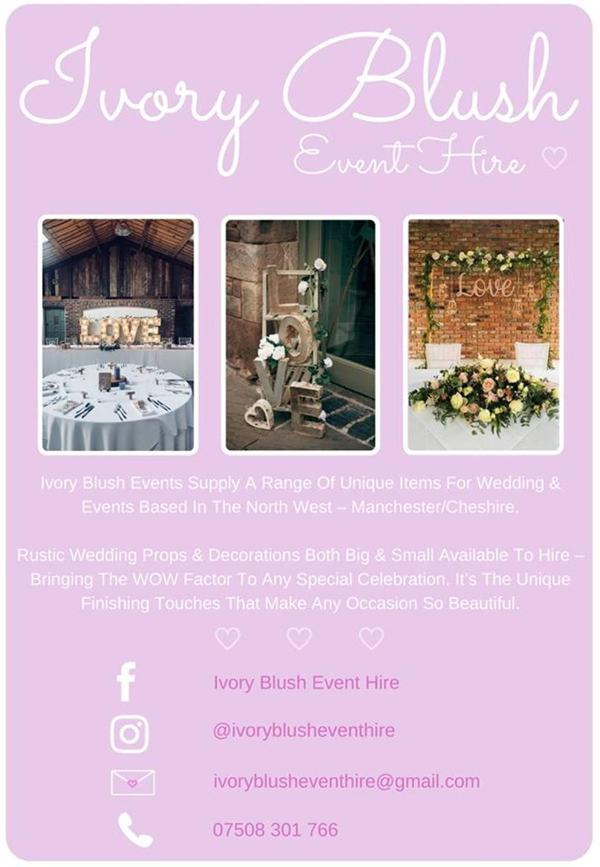 ivory blush event hire