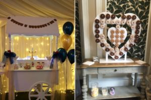 sweet confections candy cart