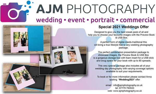 AJM Photography 2021 Weddings Offer
