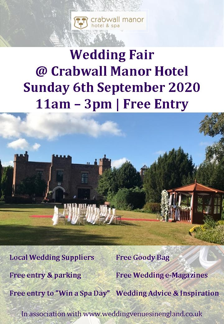 Crabwall Manor Hotel Wedding Fair Flyer 6th september