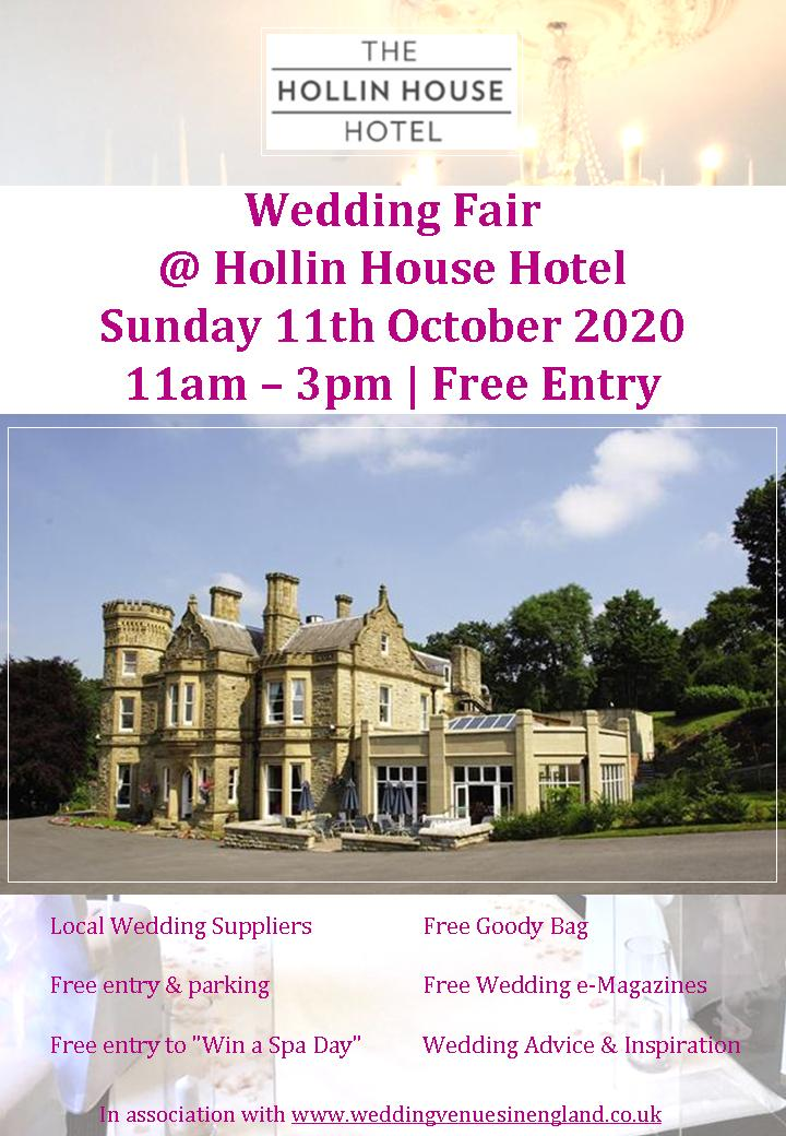 hollin house hotel wedding fair flyer 11th october