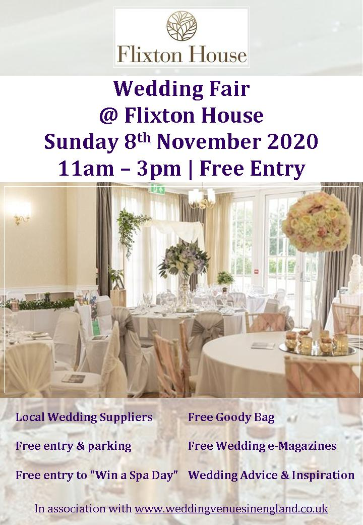 Flixton House Wedding Fair Flyer 8th november