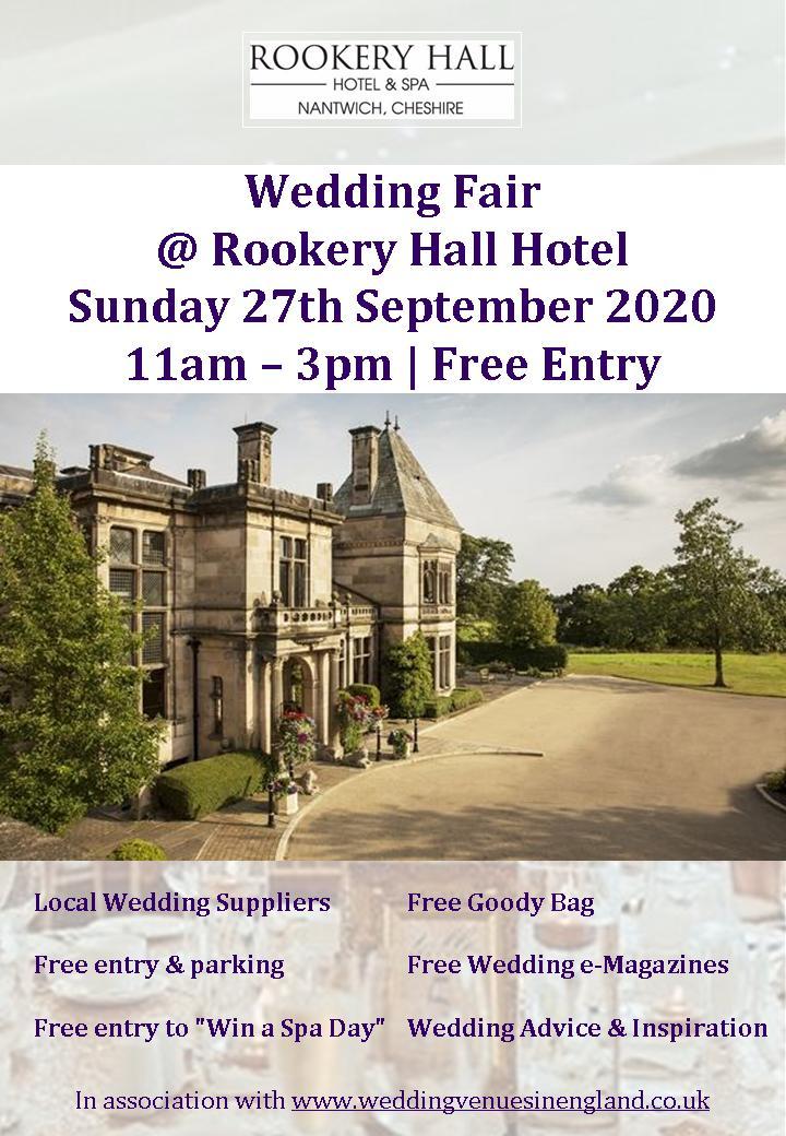 rookery hall hotel wedding fair 27 september