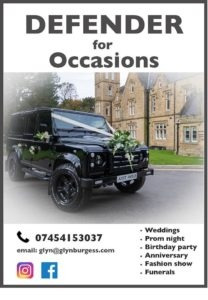 defender for occasions wedding cars