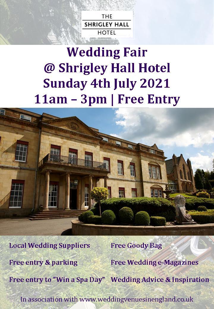 shrigley hall hotel wedding fair 4th july