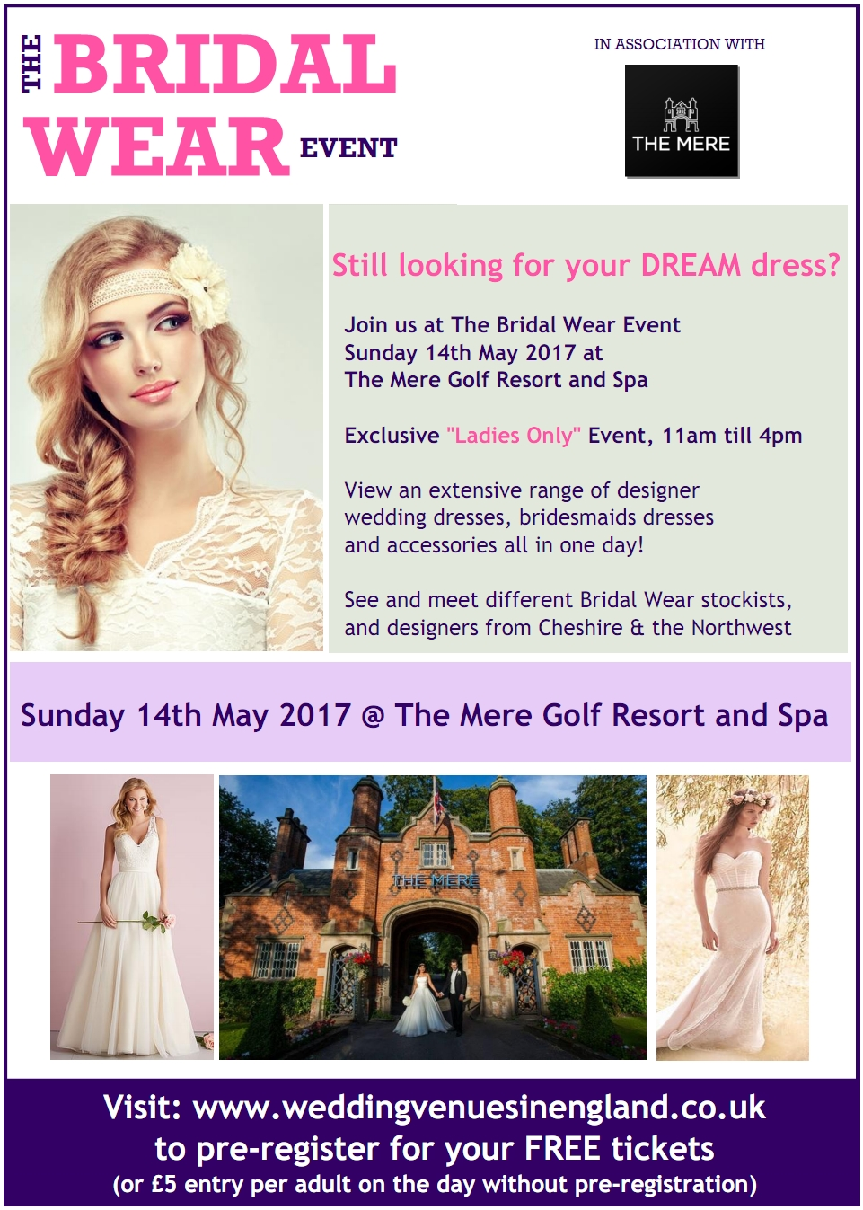bridal wear event The Mere Resort