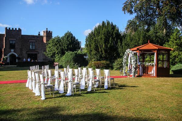 crabwall manor hotel wedding gazebo